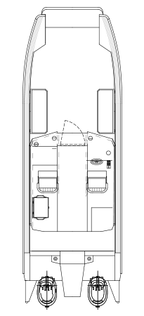 Faster 73CAT Cabin - layout