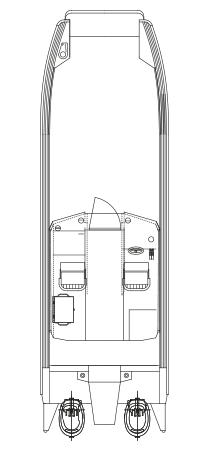 Faster 81CAT Cabin - layout